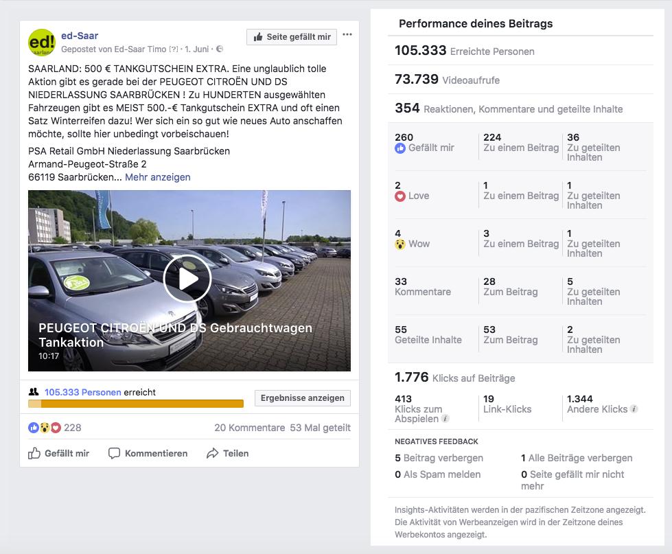 Peugeot PSA Gebrauchtwagen Tankaktion 500€ Performance_MSM_MEDIEN_SAAR_MOSEL_SAARLAND_FERNSEHEN_1_ED_SAAR