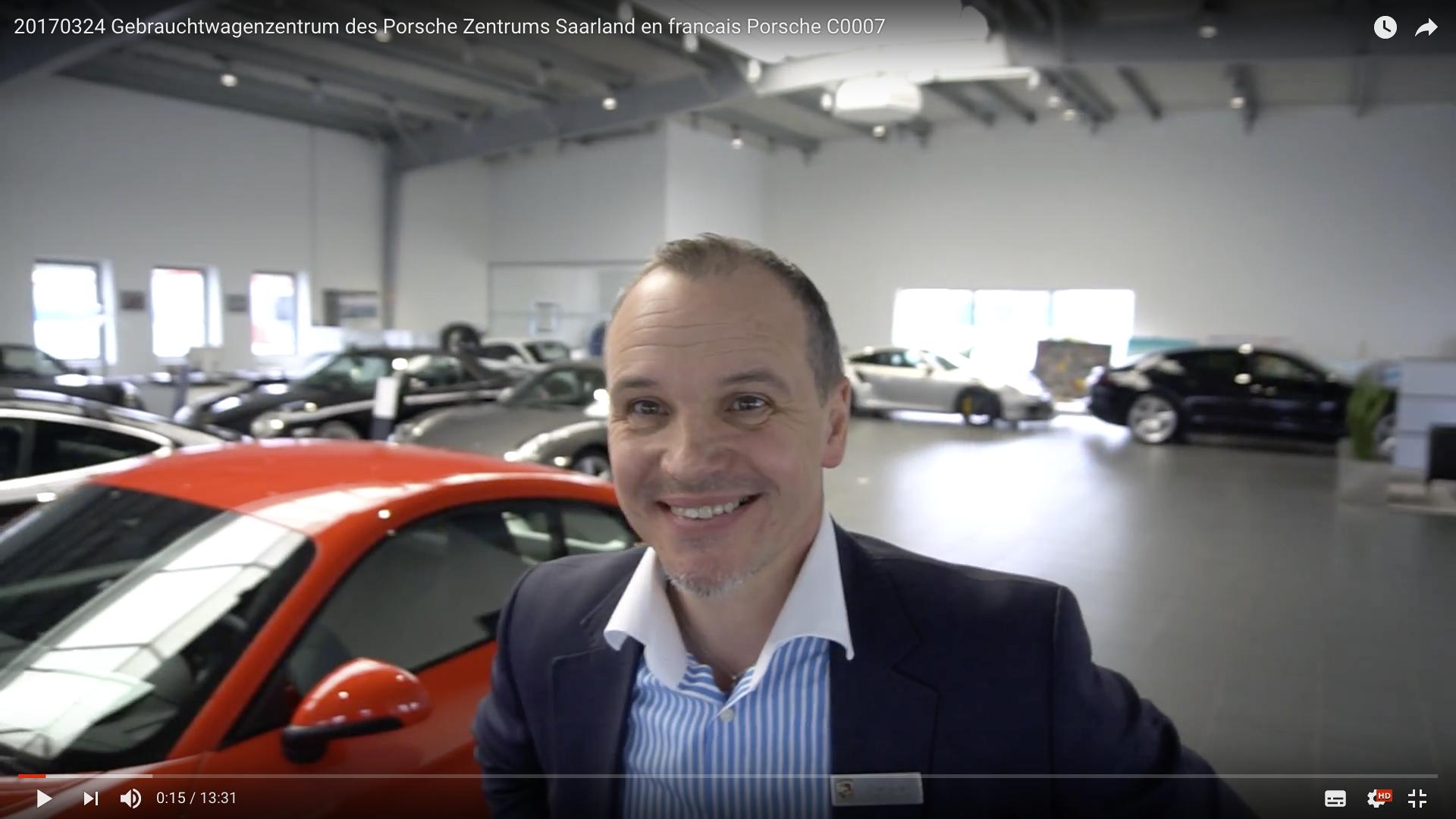2017 Gebrauchtwagenzentrum des Porsche Zentrums Saarland Olivier Kuffler _MSM_MEDIEN_SAAR_MOSEL_SAARLAND_FERNSEHEN_1_ED_SAAR