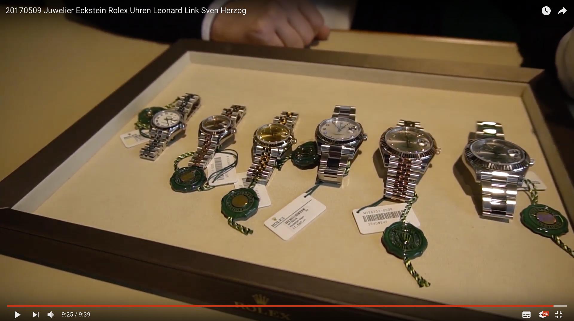2017 Juwelier Eckstein Rolex Uhren Rolex Uhren_MSM_MEDIEN_SAAR_MOSEL_SAARLAND_FERNSEHEN_1_ED_SAAR
