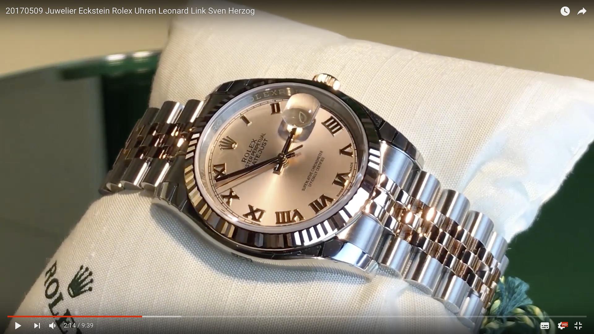 2017 Juwelier Eckstein Rolex Uhren Stahl Rosé Gold_MSM_MEDIEN_SAAR_MOSEL_SAARLAND_FERNSEHEN_1_ED_SAAR
