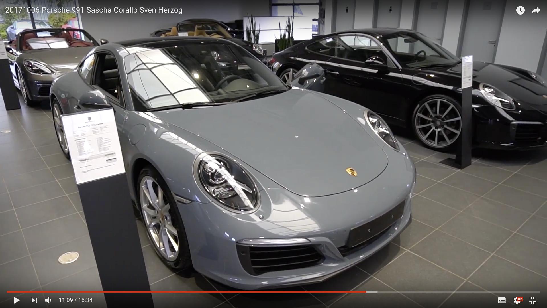 2017 Porsche 991 2. Generation Porsche 991 vorne _MSM_MEDIEN_SAAR_MOSEL_SAARLAND_FERNSEHEN_1_ED_SAAR