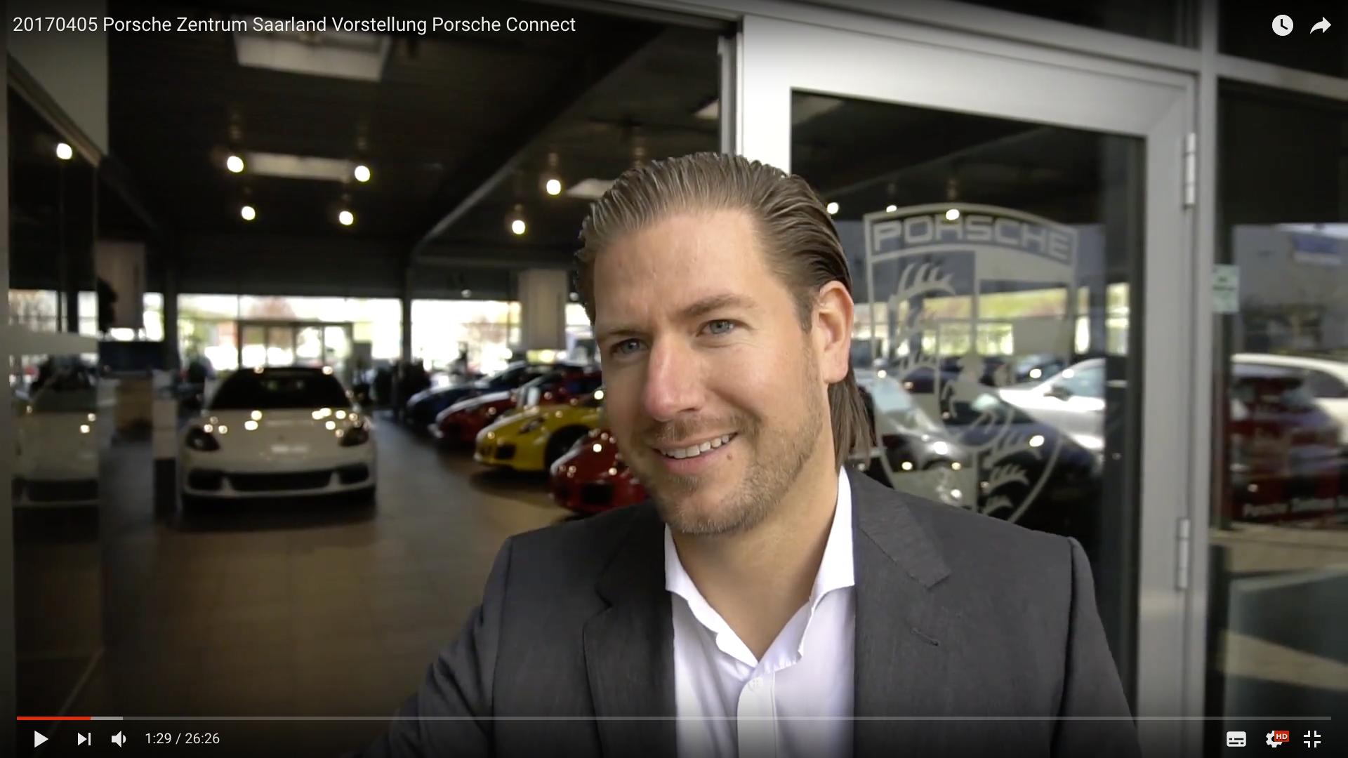 2017 Porsche Zentrum Saarland Vorstellung Porsche Connect Michael Theisen_MSM_MEDIEN_SAAR_MOSEL_SAARLAND_FERNSEHEN_1_ED_SAAR