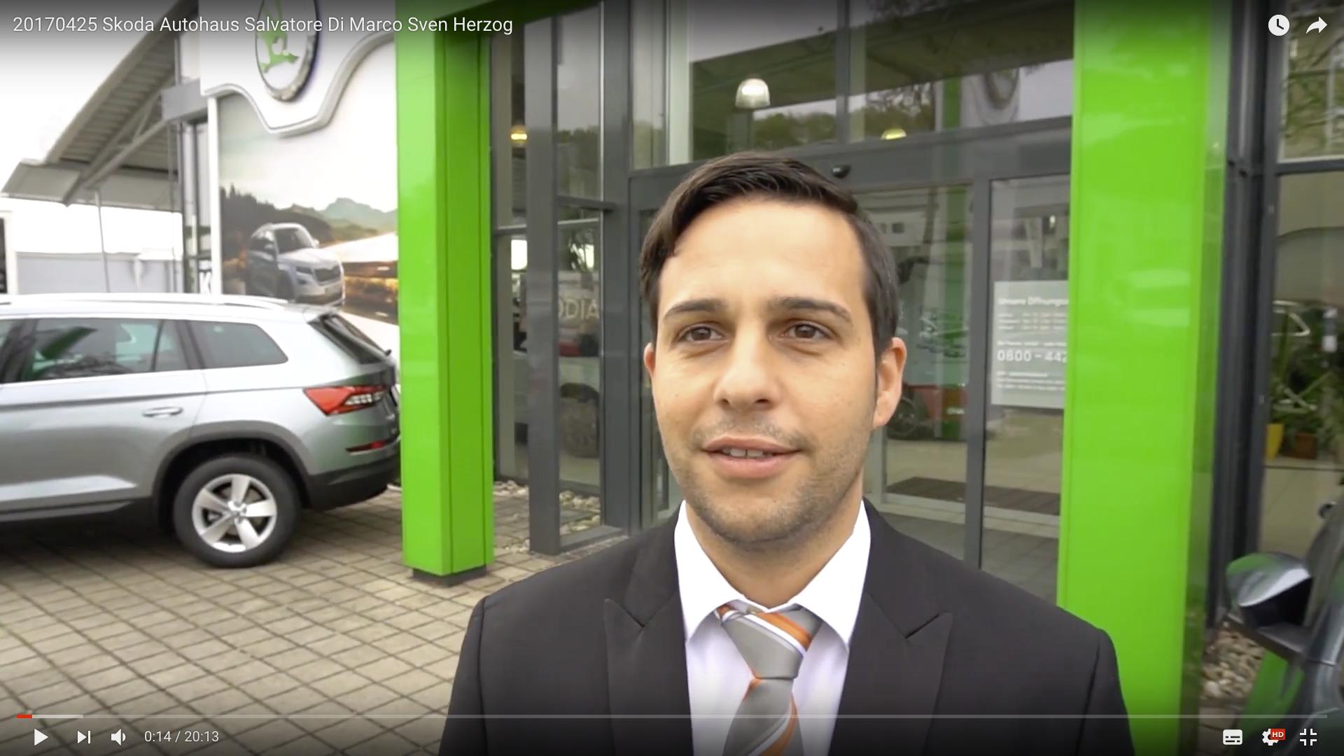 2017 Rittersbacher Skoda Zentrum Saarbrücken Verkaufsleiter Salvatore Di Marco _MSM_MEDIEN_SAAR_MOSEL_SAARLAND_FERNSEHEN_1_ED_SAAR