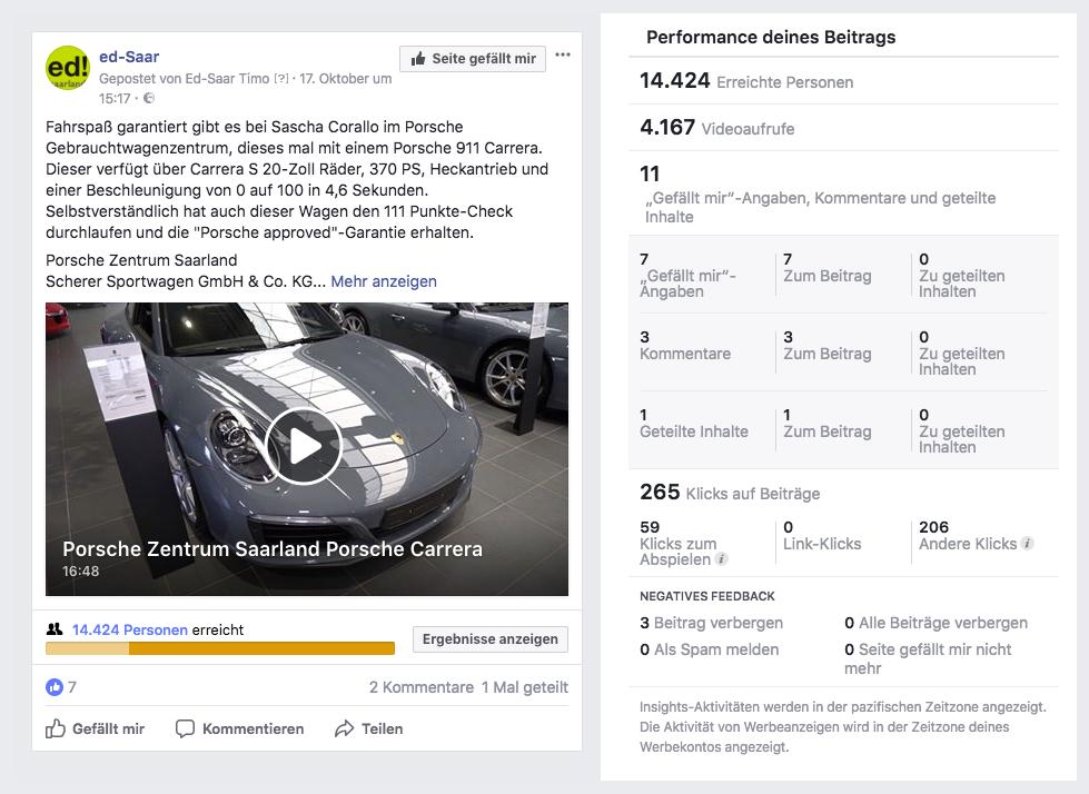 Porsche Zentrum Saarland Porsche Carrera Performance_MSM_MEDIEN_SAAR_MOSEL_SAARLAND_FERNSEHEN_1_ED_SAAR